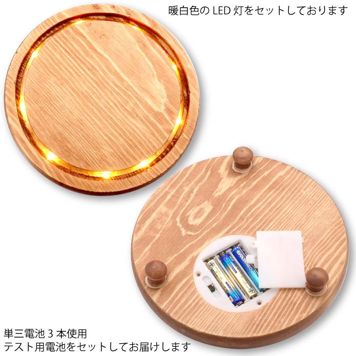 LEDガラスドームボタニカルフラワー台